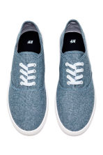 Cotton canvas trainers - Blue/Chambray - Men | H&M CN 2