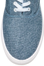 Cotton canvas trainers - Blue/Chambray - Men | H&M 3
