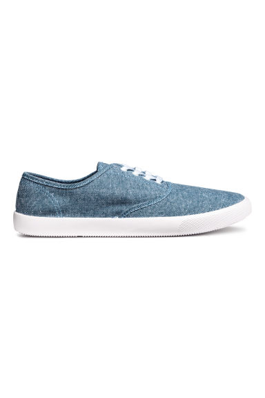 Cotton canvas trainers - Blue/Chambray - Men | H&M CN 1