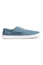 Cotton canvas trainers - Blue/Chambray - Men | H&M 1
