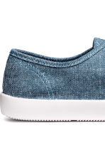 Cotton canvas trainers - Blue/Chambray - Men | H&M 4