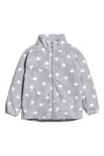Fleece jacket - Grey heart - Kids | H&M CN 2
