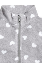 Fleece jacket - Grey heart - Kids | H&M CN 3