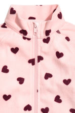 Fleece jacket - Light pink/Heart - Kids | H&M CA 3