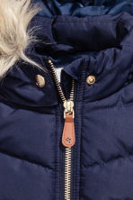 Padded gilet - Dark blue -  | H&M 3