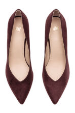 Imitation suede court shoes - Plum - Ladies | H&M CN 3