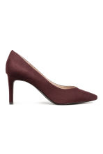 Imitation suede court shoes - Plum - Ladies | H&M CN 2
