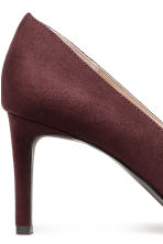 Imitation suede court shoes - Plum - Ladies | H&M CN 5
