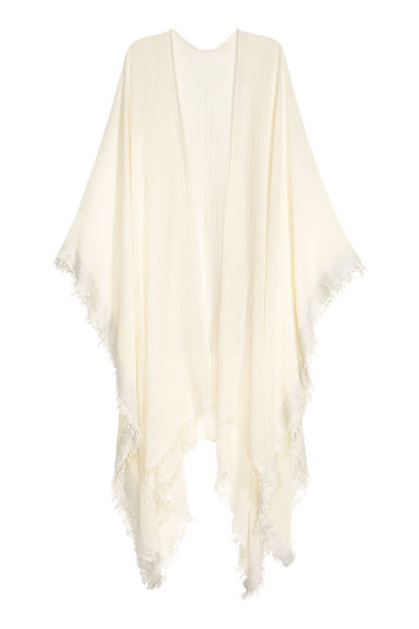 Airy poncho - Natural white - Ladies | H&M CN 1