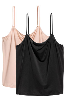 2-pack microfibre strappy tops