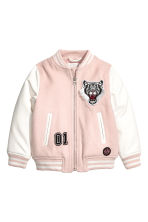 Baseball jacket - Light pink - Kids | H&M CA 2