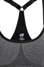 Sports bra Low support - Dark grey marl - Ladies | H&M CA 2