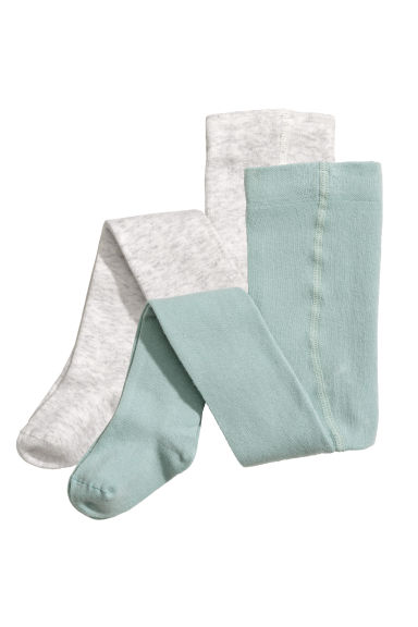 2-pack tights - Light grey marl - Kids | H&M