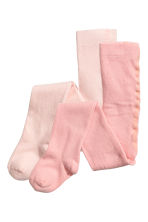 2-pack tights - Light pink - Kids | H&M 1