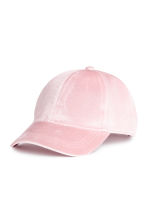 天鵝絨鴨舌帽 - Light pink - Ladies | H&M 1