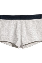 Pyjamas with top and shorts - Light grey - Ladies | H&M CN 3