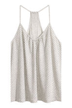 Pyjamas with cami and shorts - Light grey/Spotted - Ladies | H&M 4