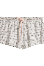 Pyjamas with cami and shorts - Light grey/Spotted - Ladies | H&M 3