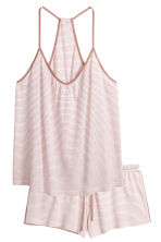 Pyjamas with cami and shorts - White/Striped - Ladies | H&M CN 2