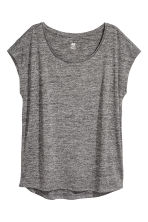 Sports top - Black marl - Ladies | H&M IE 2