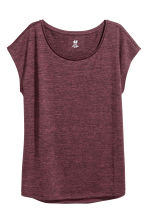 Sports top - Burgundy/Black marl - Ladies | H&M 2