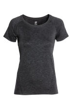 Seamless sports top - Dark grey marl - Ladies | H&M CN 2
