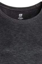 無痕運動上衣 - Dark grey marl - Ladies | H&M 3