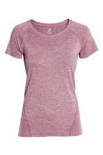 Seamless sports top - Light purple marl - Ladies | H&M IE 2