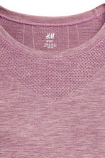 Seamless sports top - Light purple marl - Ladies | H&M IE 3