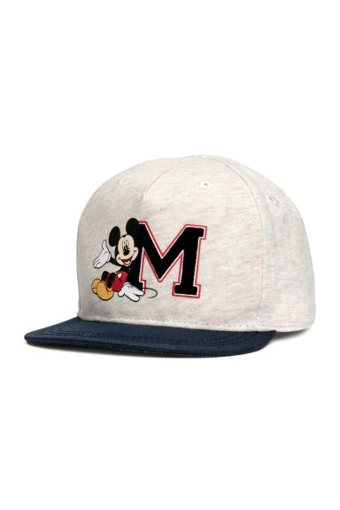 Pet met print - Lichtbeige/Mickey Mouse -  | H&M BE 1