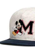 Pet met print - Lichtbeige/Mickey Mouse -  | H&M BE 4