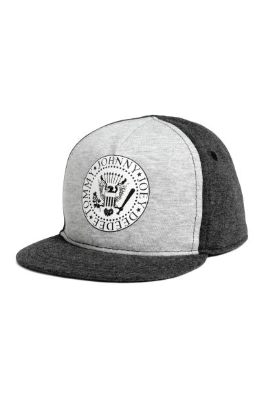 Cap with a print motif - Grey marl/Ramones - Kids | H&M 1