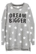 Pyjama top and leggings - Grey marl/Stars - Ladies | H&M 4