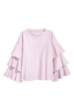 Top with tiered sleeves - Light pink -  | H&M CA 2