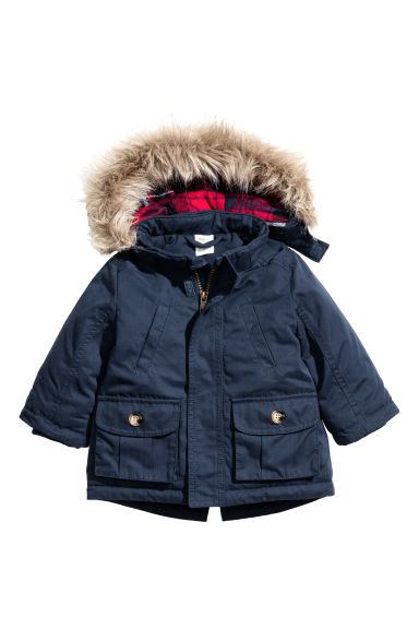 Padded parka - Dark blue - Kids | H&M CN