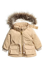 Padded parka - Beige -  | H&M CA 1