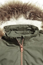 Padded parka - Khaki green - Kids | H&M CN 2