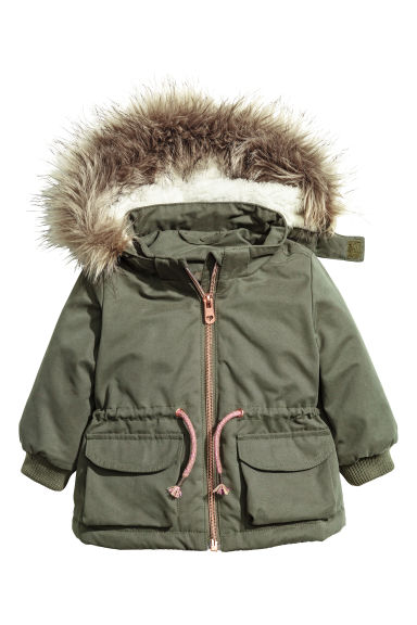 Padded parka - Khaki green -  | H&M IE