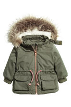 Padded parka - Khaki green - Kids | H&M CN 1