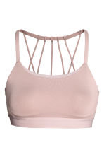 Sports bra Low support - Powder pink - Ladies | H&M CN 2