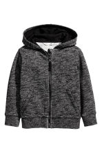 Hooded jacket - Black marl -  | H&M CA 2