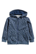 Hooded jacket - Dark blue marl - Kids | H&M 2