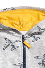Hooded jacket - Grey/Aeroplane -  | H&M 3