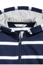 Hooded jacket - Dark blue/Striped -  | H&M 3