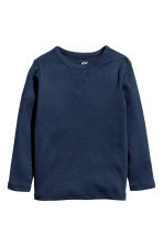 2-pack jersey tops - Dark blue/White - Kids | H&M CN 3