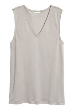Lyocell top - Light grey - Ladies | H&M 2