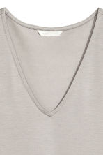 Lyocell top - Light grey - Ladies | H&M 3