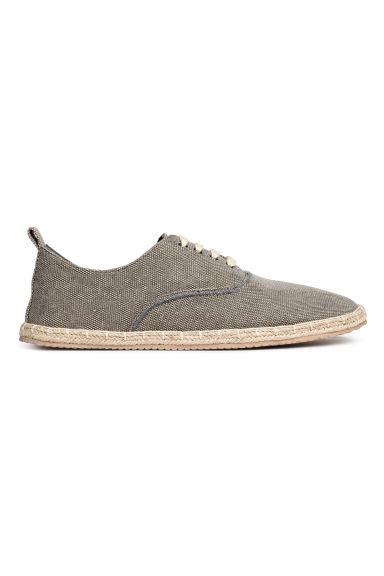 Lace-up espadrilles - Grey - Men | H&M 1
