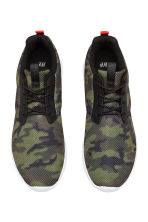 Mesh trainers - Khaki green/Patterned - Men | H&M CN 2