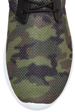 Mesh trainers - Khaki green/Patterned - Men | H&M CN 3